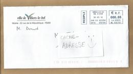Enveloppe Entière Ville De Villiers-le-bel Mairie Rue De La République 30/05/2016 écopli Aff. Mécanique - Marcophilie (Lettres)