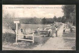 CPA Morestel, Etang De Prailles, Chantier De L'Etablissement De Pisciculture - Morestel