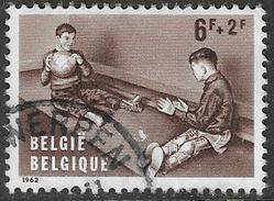 Belgium SG1830 1962 Disabled Children Relief Funds 6f+2f Good/fine Used [33/28674/6D] - Belgium