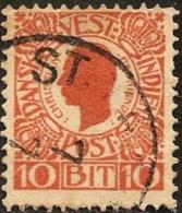 Dansk Vestindien 1905  King Christian IX 10 Bit  1 Value Cancelled