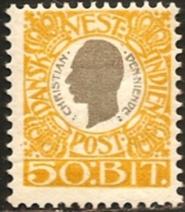 Dansk Vestindien 1905  King Christian IX 50 Bit  1 Value Cancelled
