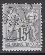 FRANCE 1876/1877 -  Y.T. N° 77 - OBLITERE  - FF55 - 1876-1898 Sage (Type II)