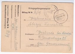 Germany Deutschland Poland 1940 Kriegsgefangenenpost, Wieliczka Krakau Krakow WWII, War Prisoners Prisoner Prison - 1939-44: 2. WK