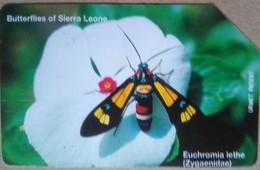 Sierra Leone Phonecard 25 Units Butterflies Of Sierra Leone