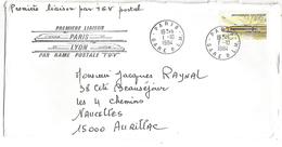 OBLITERATION COMMEMORATIVE 1 ERE LIAISON TGV PARIS LYON 1/10/1984 - French Revolution
