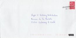 GRIFFE LINEAIRE LES HERBIERS CC -85-0630  SUR LAMOUCHE  ENVELOPPE ENTIERE POUR FONTENAY LE COMTE 2007 ---- TDA173 - Marcophilie (Lettres)