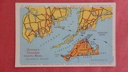 Map  Martha's Vineyard Island  Massachusetts     Ref 2528 - Verenigde Staten