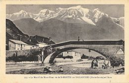 Le Massif Du Mont-Blanc Vu De St-Martin-sur-Sallanches (Haute-Savoie) Et L'Arve - Edition L. Fauraz - Carte Non Circulée - Otros Municipios