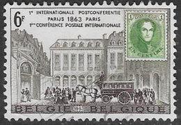 Belgium SG1852 1963 Centenary Of Paris Postal Conference 6f Good/fine Used [33/28692/6D] - Belgium
