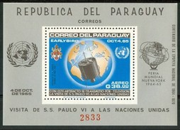 1965 Paraguay Visita Paolo VI Papi Popes Papes Spazio Space Espace Block Perforate & Imperforate 2 Scans Set MNH** Spa34