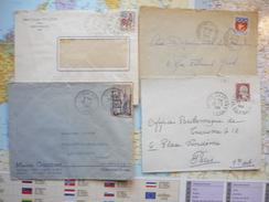 4 Cachets Manuels SOMME 1956-67 - Cachets Manuels