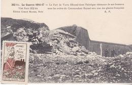 S-  GUERRE 14 17  COMMEMORATION JOURNEE DE LA MEUSE 1917 LE FORT DE DOUAUMONT  CACHET DE LA JOURNEE DE LA MEUSE AU VERSO - Clermont En Argonne