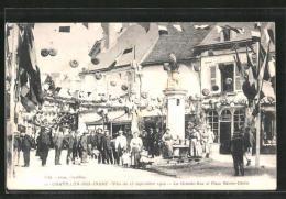 CPA Chatillon Sur Indre, Fete Du 25 Septembre 1910, La Grande Rue Et PLace Saint Cecile - France