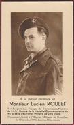 Faire-parts Mortuaire : Mr Lucien Roulet,sergent Transmission , Décédé à L'H.M. Le 12 Octobre 1946 - Décès