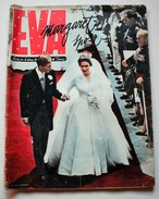 EVA - ITALIAN MAGAZINE - MARRIAGE OF PRINCESS MARGARET WITH TONY ARMSTRONG SNOWDON EARL - ORIGINAL MAY 1960 - Books, Magazines, Comics
