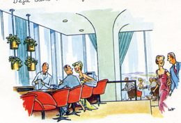 Canada - Lot De 3 Cartes - Illustrateur (Jeff?) - Publicites Pour L'hotel Et Restaurant Altitude 737 - Canada