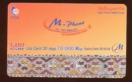 M Phone Prepaidkarte  - Gebraucht - Siehe Scan - Laos