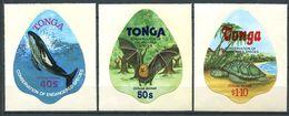 196 TONGA 1978 - Yvert 132/34 Adhesif - Cetace Chauve Souris Tortue - Neuf ** (MNH) Sans Trace De Charniere - Tonga (1970-...)