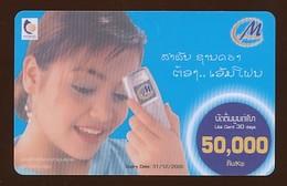M Phone Prepaidkarte - Frau - Gebraucht - Siehe Scan