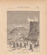 1888 - Gravure Sur Bois - Villemomble (Seine-Saint-Denis) - Bombardement Du Plateau D'Avron - Guerre De 1870 - FRANCO - Estampas & Grabados