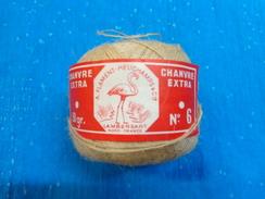 Pelote De Chanvre N°6 -50g A. Flament Heuchamps Et Cie Lambersart Nord - Unclassified