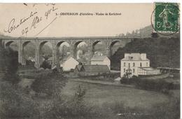 """Carte Postale Chateaulin """" Viaduc De Kerlobret """" - Châteaulin"""