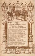 1   NIEUWJAARSWENSCH   Der GAZ Ontstekers Stad ANTWERPEN 1897  GROENPLAATS - Tarjetas De Visita