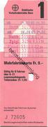 Schweiz - Städtische Verkehrsbetriebe Bern - Mehrfahrtenkarte - Busse