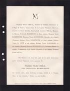 JUDAICA PARIS Henriette BAMBERGER épouse Michel BREAL 1890 Familles LEVY LANDSBERG SELIGMANN Lettre Mortuaire - Décès