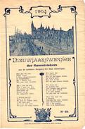 1   NIEUWJAARSWENSCH   Der GAZ Ontstekers Stad ANTWERPEN  1904   Het Steen En Rede Nieuwjaar Straatverlichting - Belgique