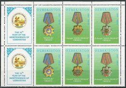 USBEKISTAN 2001 MI-NR. 390/92 2x ** MNH - Usbekistan