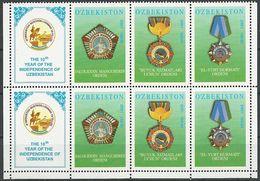 USBEKISTAN 2001 MI-NR. 384/86 2x ** MNH - Usbekistan