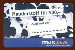 Max.0676  Prepaidkarte -  Gebraucht - Siehe Scan - Oesterreich