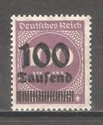 Germany 1923,Surcharged ,100th On 100m,Sc 253,VF MNH**OG - Deutschland