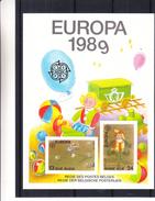 Europa 1989 - Belgique - Feuillet De Luxe De 1989 - Jeux D'enfants - Poupées - Billes - Valeur 125 Euros - Tirage Limité - Europa-CEPT