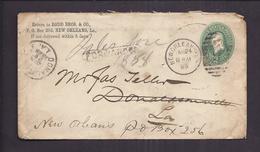 ENVELOPPE ETATS UNIS NEW ORLEANS 1888 GRIFFE FORWARDER - ...-1900