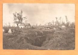Fotokaart Fotokarte Carte Photo Duitse Stellingen 2de Garde Reserve Division 1916