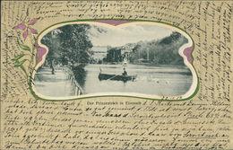 AK Eisenach, Prinzenteich, Jugendstil-Dekor, O 1902, Eckknick Unten Links (6167)