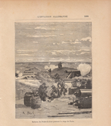1888 - Gravure Sur Bois - Boulogne-Billancourt (Hauts-de-Seine) - Le Point-du-Jour - Guerre De 1870 - FRANCO DE PORT