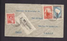 ENVELOPPE ARGENTINE 1938 REPUBLICA ARGENTINA Recommandé BUENOS AIRES VERS PARIS - Argentina
