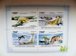 SALE! Togolaise 2011 Animals Arctic Protection Polar Ursus Bear Lepus Fox Wolf Seal - Togo (1960-...)