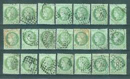 FRANCE - Yv. Nr 53 (21x)- Cérès - Gest./obl. - Nuances, Cachets... -  Cote 210,00 € - 1871-1875 Cérès