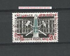 * 1959  N° 1197 ECOLE DES MINES A PARIS 1.6.1959   OBLITÉRÉ DOS TRACE CHARNIÈRE ENLEVÉE - Errors & Oddities