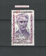 * 1959  N° 1199  HÉROS RÉSISTANCE YVONNE LE ROUX  1.8.1959   OBLITÉRÉ DOS  CHARNIÈRE TB - Errors & Oddities