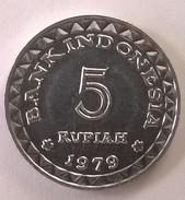 Monnaie - Indonésie - 5 Rupiah 1979 - Superbe +++ - - Indonésie