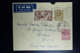 GB Airmail Cover 1935 London-> Paris With Air France ->Argentine  Seahorse  Mixed Stamps - 1902-1951 (Kings)