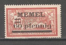 Memel 1920,Surcharged 60pf On 40c, Sc 24,VF MNH**OG - Klaipeda