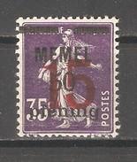 Memel 1921-22,Surcharged 15pf On 50pf On 35c, Sc 45,VF MNH**OG - Memel (1920-1924)