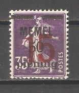 Memel 1921-22,Surcharged 15pf On 50pf On 35c, Sc 45,VF MNH**OG - Unused Stamps
