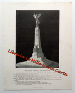MONUMENTO AI CADUTI A SALERNO _ BOZZETTO ILLUSTRAZIONE E RELAZIONE _ GAETANO CHIAROMONTE _ Documento Originale - Stampe & Incisioni